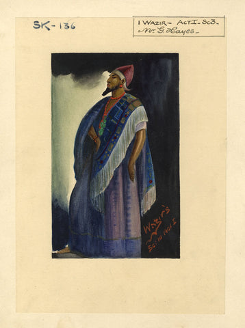 Percy Anderson, Original Costume Design for 'Cairo' 1921: Wazir