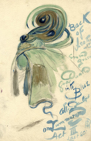 Percy Anderson, Original Costume Design for 'Cairo' 1921: Zummurud Headdress