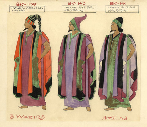 Costumier after Percy Anderson, Costume Design for 'Cairo' 1921: Wazirs, Act I