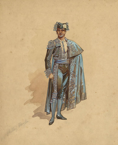 Wilhelm (William Charles Pitcher), Costume 'The Toreador' 1902: Carajola, Act I