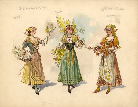 Wilhelm (William Charles Pitcher), Costume 'The Toreador' 1902: Chorus Ladies 1