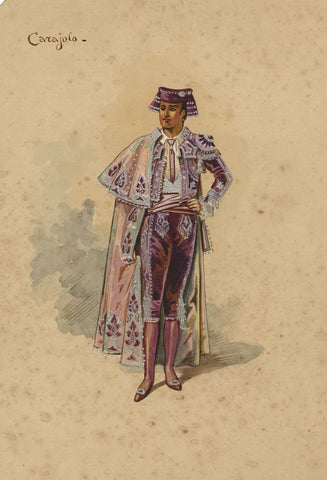 Wilhelm (William Charles Pitcher), Costume Design 'The Toreador' 1902: Carajola