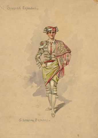 Wilhelm (William Charles Pitcher), Costume 'The Toreador' 1902: Special Espadas
