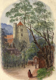 E. Venis, All Saints Church, Hastings - Late 19th-century watercolour painting