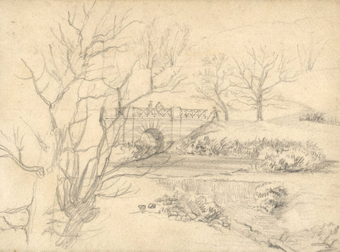 George Corson, From 'the Viaduct', Hampstead Heath - 1854 graphite drawing