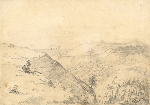 George Corson, Kirkconnell Moor, Dumfries & Galloway - C19th graphite drawing