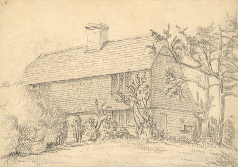 George Corson, Iddenden Cottage, Hawkhurst, Kent - 1855 graphite drawing