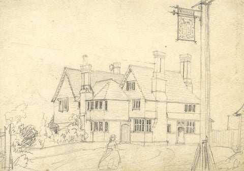George Corson, Chafford Arms, Fordcombe, Kent - Original 1865 graphite drawing