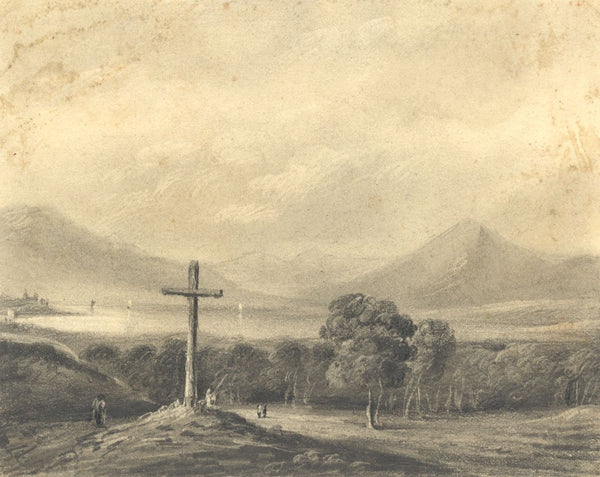 Alfred Swaine Taylor, Lake Zug, Switzerland - Original c.1829 graphite drawing