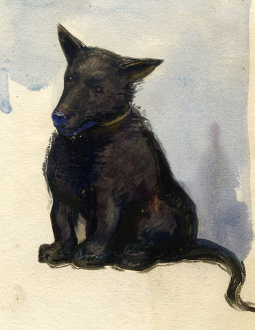 Ethel M. Mallinson, Terrier Dog - Early 20th-century watercolour painting