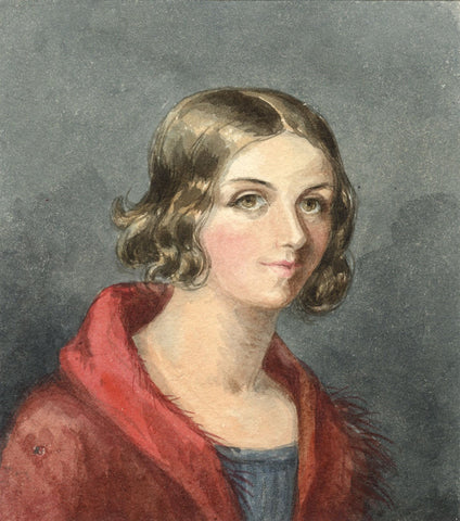 Lady Susan Harriet Holroyd, Portrait of a Lady - c.1845 watercolour painting