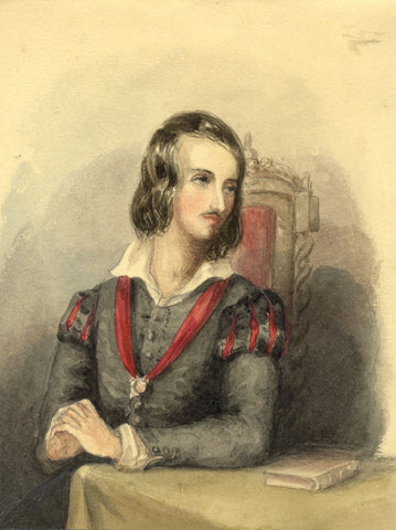 Lady Susan Harriet Holroyd, Sir Walter Scott's The Abbot - c.1845 watercolour