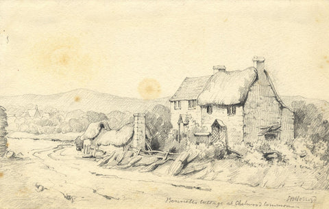 Lady Susan Harriet Holroyd, Bennett's Cottage, Chelwood Common - c.1845 drawing