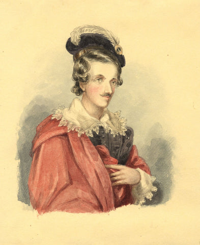 Lady Susan Harriet Holroyd, Walter Scott Peveril of the Peak - c1845 watercolour