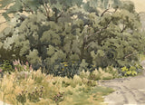 Eliot Candee Clark, Extensive Landscape with Cows - Early-C20th watercolour