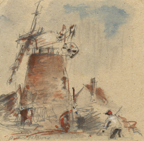 Arthur E. Davies RBA RCA, Marsh Mill, Runham, Norfolk - Early C20th watercolour