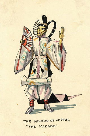 Gilbert & Sullivan Opera 'The Mikado of Japan' - Early 20th-century watercolour