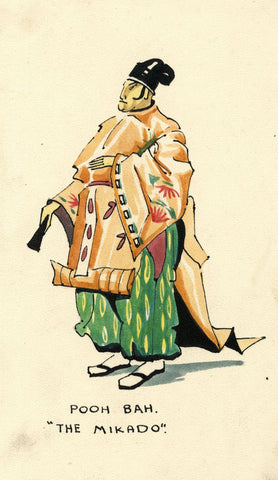 Gilbert & Sullivan Opera 'The Mikado' Pooh-Bah - Early 20th-century watercolour