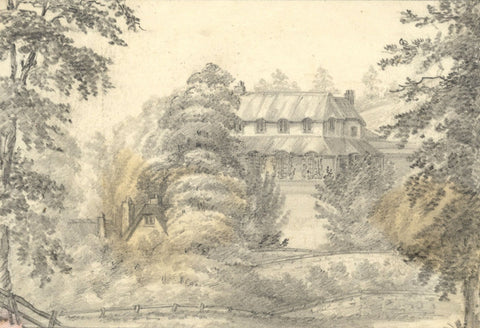 C.A. Collis, Manor House, Dawlish, Devon - mid-19th-century graphite drawing
