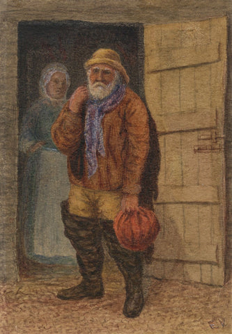 E. Venis, An 'Old Salt' Sailor, Hastings -Late 19th-century watercolour painting