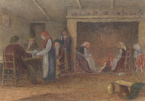 E. Venis, Inn Interior 'Old Town House', Hastings -Late 19th-century watercolour
