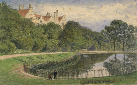 E. Venis, St Leonards Gardens, Hastings - 1870 watercolour painting