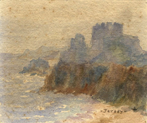 F.A. Eastwood, Mont Orgueil Castle, Jersey - Late 19th-century watercolour