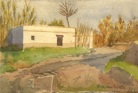 F.A. Eastwood, A Venta near Seville, Spain - Original 1891 watercolour painting