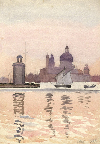 F.A. Eastwood, St Mark's from Grand Canal, Venice - 19th-century watercolour