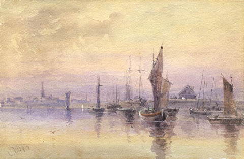 Sir Charles D'Oyly, Pilchard Fishing South Devon -Early 19th-century watercolour
