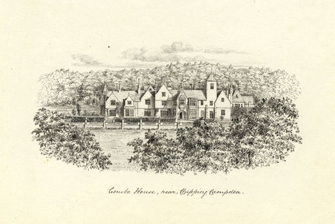 M.S. Smith, Campden House, Chipping Campden - Original 1871 pen & ink drawing