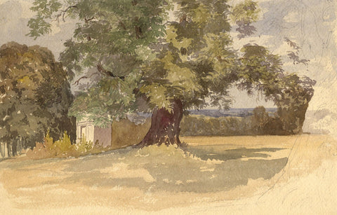 Knebworth Park, Hertfordshire - Late 19th-century watercolour painting