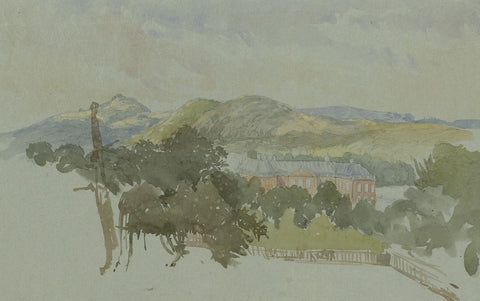 Holme Lacy House, Herefordshire - Late 19th-century watercolour painting