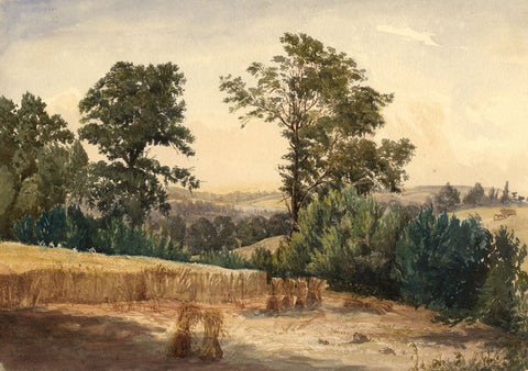 View from Knebworth Rectory Garden - Late 19th-century watercolour painting