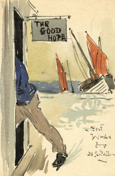 Neville Sotheby Pitcher RSMA, The Good Hope Inn - Early 20th-century watercolour painting