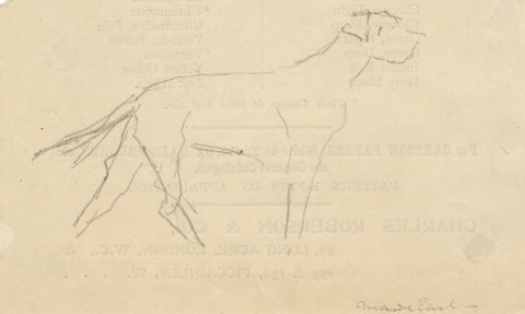 Attrib. Maude Earl, Welsh Terrier Dog - Early 20th-century graphite drawing