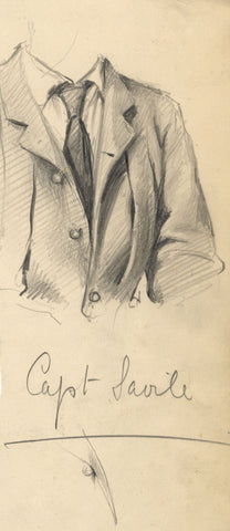 Count Mario Grixoni, Capt Savile Clothing Study - Early 20th-century drawing