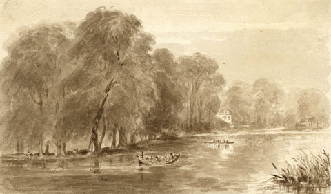 Hannah Mary Rathbone, On the River, Copley Fielding - 19th-century watercolour