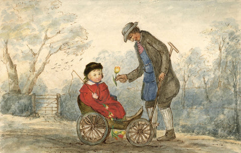 Hannah Mary Rathbone, Gardener Robin Drew Me to School -19th-century watercolour