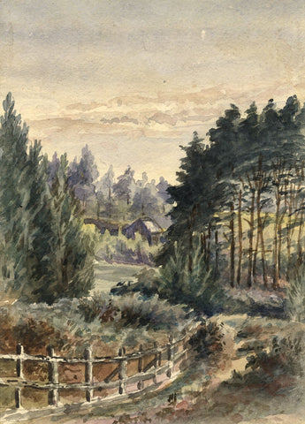 M. Conway, In the Warren, Crowborough - Late 19th-century watercolour painting