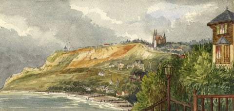 Mary C. Durst, Sainte-Adresse from Villa des Falaises -1887 watercolour painting