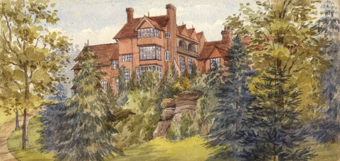 Mary C. Durst, Leyswood House, Groombridge, Kent - 1888 watercolour painting