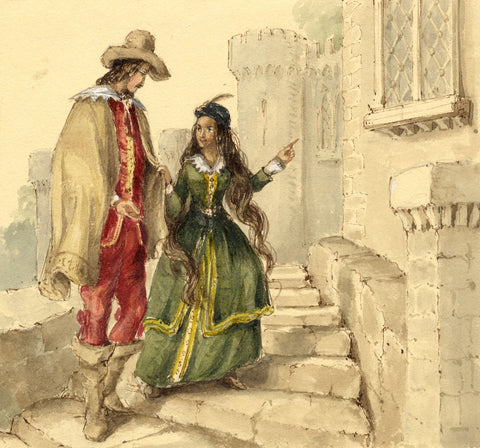 Lady Susan Harriet Holroyd, Scott's Peveril of the Peak 3 - c.1845 watercolour