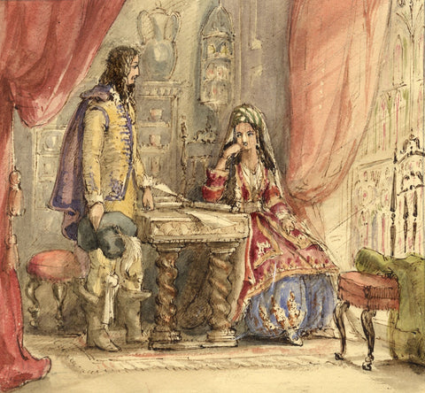 Lady Susan Harriet Holroyd, Scott's Peveril of the Peak 4 - c.1845 watercolour