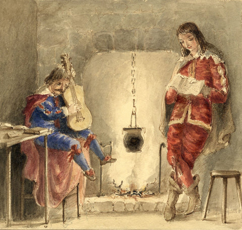 Lady Susan Harriet Holroyd, Scott's Peveril of the Peak 5 - c.1845 watercolour