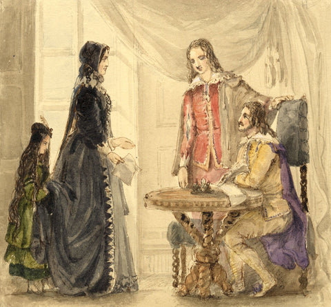 Lady Susan Harriet Holroyd, Scott's Peveril of the Peak 7 - c.1845 watercolour