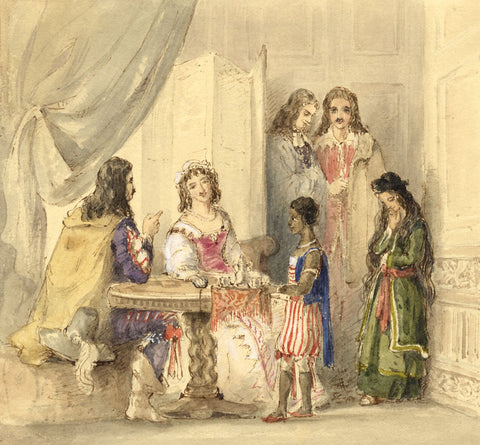 Lady Susan Harriet Holroyd, Scott's Peveril of the Peak 8 - c.1845 watercolour