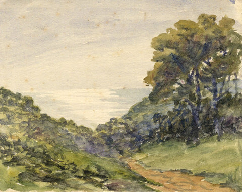 E. Venis, Coastal View, Hastings - Late 19th-century watercolour painting
