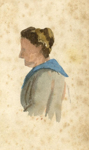 Nora H. Silver, British Expat Lady Portrait, Tangier Morocco -1892/3 watercolour
