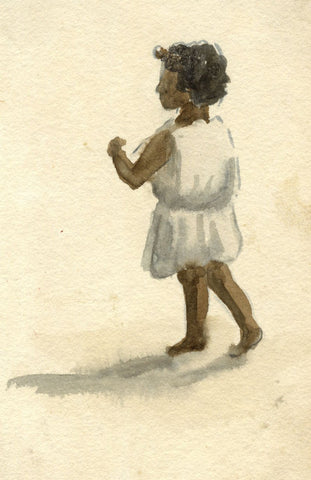 Nora H. Silver, Moorish Child, Tangier, Morocco - 1892/3 watercolour painting